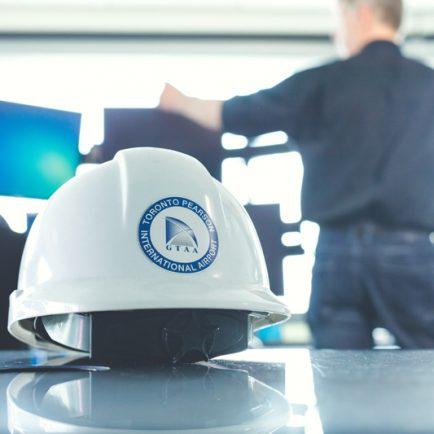 Airport worker helmet
