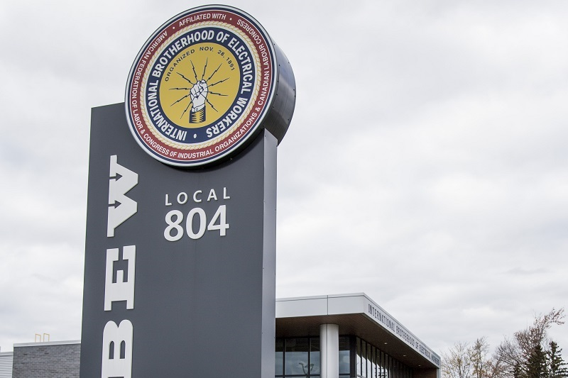 IBEW Local 804 Hall Sign
