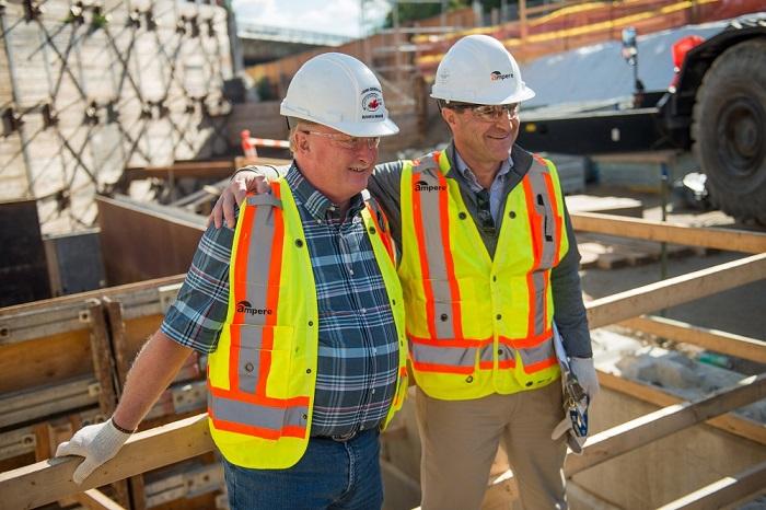 Mount Dennis Toronto LRT Construction site electricians Grimshaw Burke