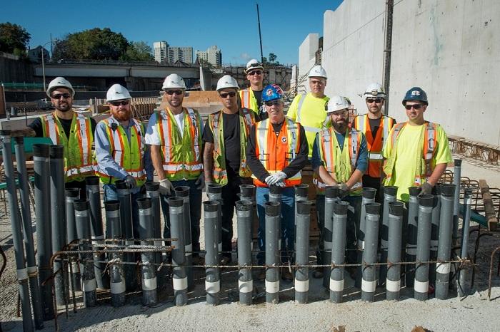 Mount Dennis Toronto LRT Construction site electrician team