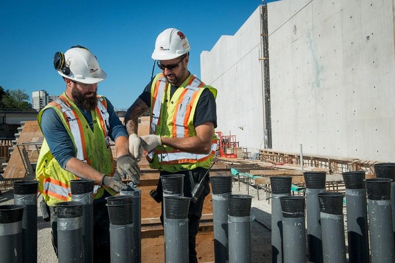 Mount Dennis Toronto LRT Construction site electricians