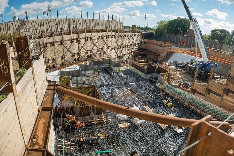 Mount Dennis Toronto LRT Construction site