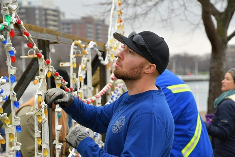 IBEW Local 530 Electrician volunteering at Celebration of Lights