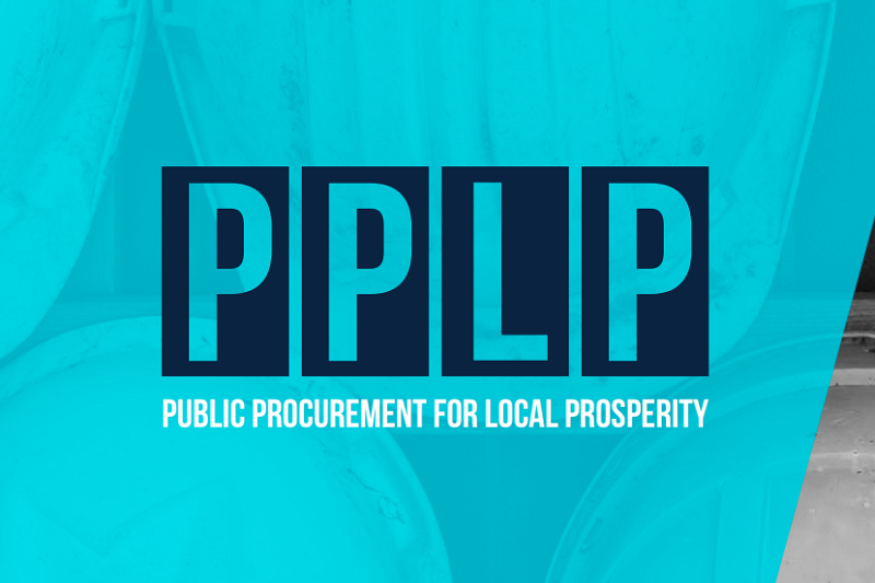 PPLP logo over blue background