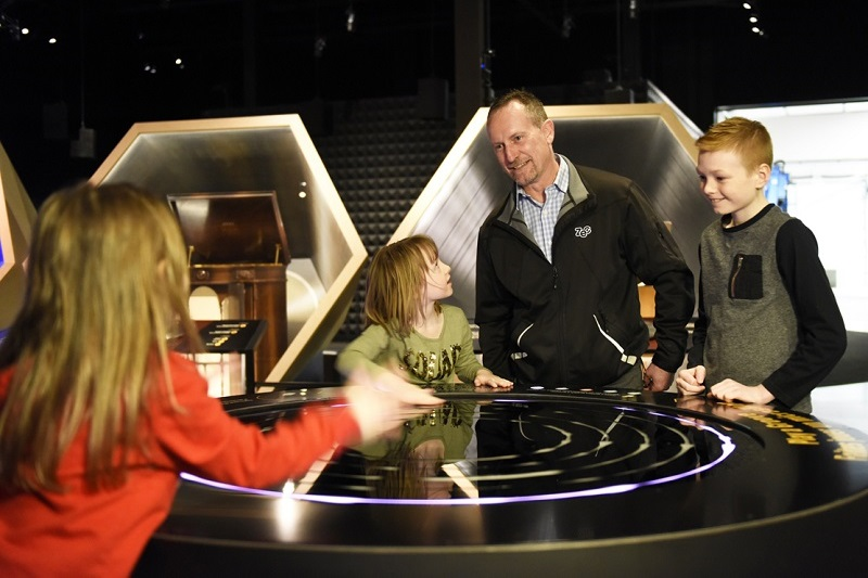family at Canadian Museum of Science and Technology