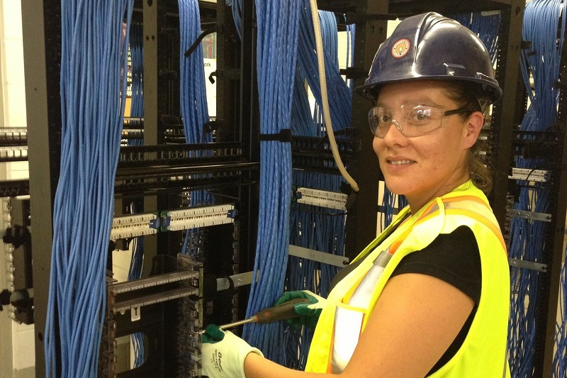 network cabling specialist Ashley Porter