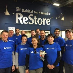 Modern Niagara team volunteering at the Habitat for Humanity ReStore in Barrie